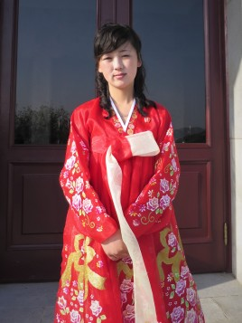 A North Korean greeter from the port of Nampo. Copyright: Lu-Hai Liang (2014).
