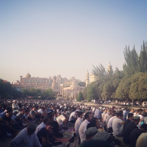 Ramadan, final mass, in Kashgar, Xinjiang. Photo: Brent Crane.