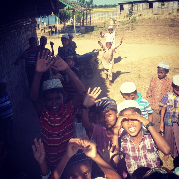 Children at a Rohingya refugee camp in Rakhine state, Myanmar. Photo: Brent Crane.