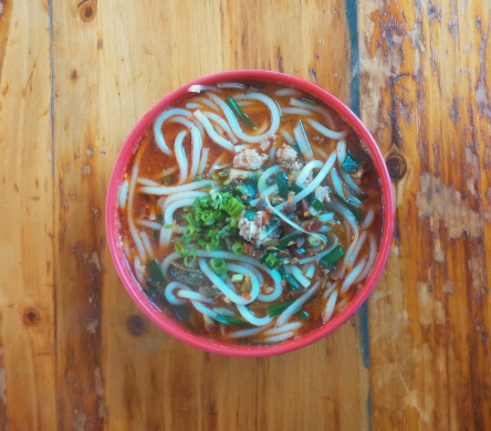 A bowl of 'mi xian', a Yunnan specialty